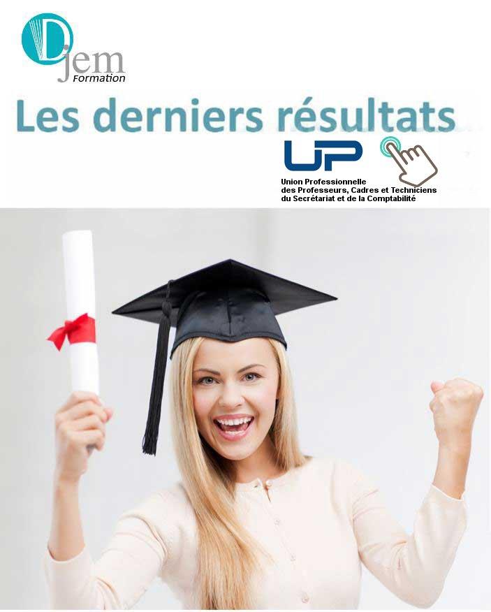 Assistant administration comptabilité Asca Uppctsc derniers résultats examen Djem Formation Cergy Pontoise Val Oise