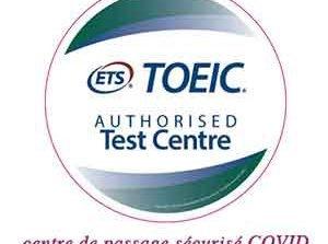 logo Test Toeic centre de passage sécurisé COVID Cergy Pontoise Val d'Oise Ile de France