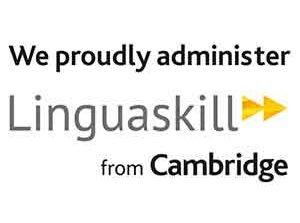 logo We proudly administer Linguaskill Cambridge Accesment English centre passation Cergy Pontoise Djem Formation