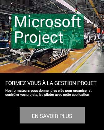 formation gestion projet Microsoft Project en savoir plus à distance inter intra certifiant CPF Cergy Djem
