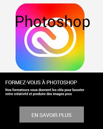 formation infographie création retouche image Photoshop Adobe Creative Cloud en savoir plus à distance inter intra certifiant CPF Cergy Djem